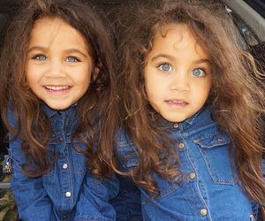 baby, eyes, and twins image