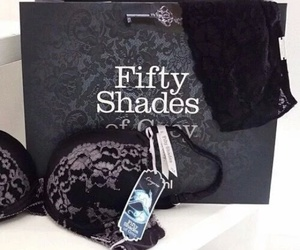 fifty shades of grey, sexy, and bra image