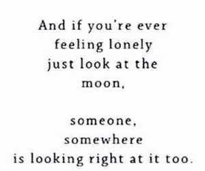 moon, quote, and lonely image