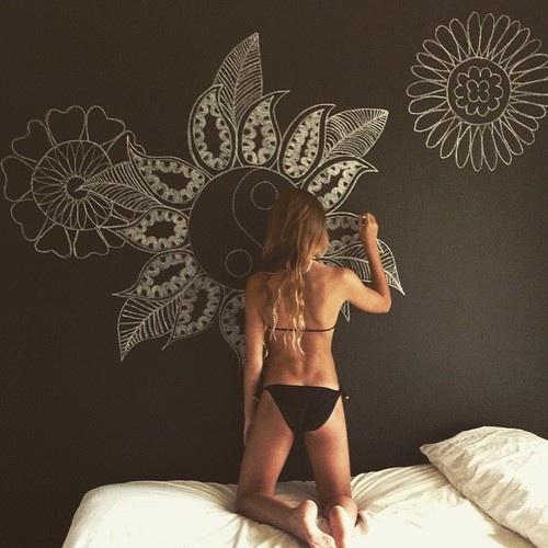 art, artistic, and bikini girl image