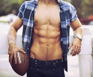 abs, boy, and football image