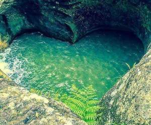 heart, water, and nature image