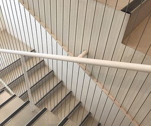aesthetic, beige, and stairs image