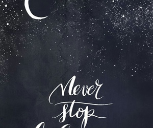 quotes, stars, and moon image