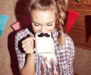 blonde, braid, and mustache image