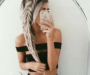 black, iphone, and fashion image