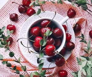 berry, summer, and cherry image