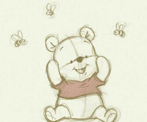 disney, drawing, and winnie the pooh image