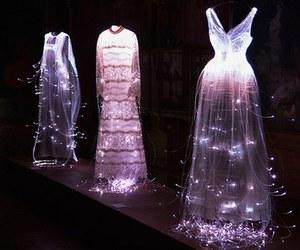 dress, fashion, and light image
