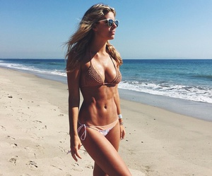 beach, fit girl, and fitspo image