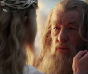 gandalf, the hobbit, and galadriel image