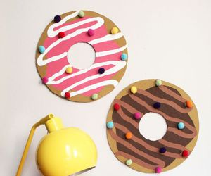 donuts, diy, and pink image