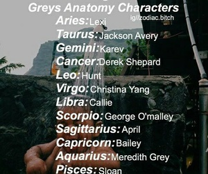 as, zodiac, and grey's anatomy image