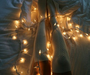 lights, aesthetic, and girl image