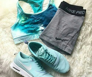 nike, fitness, and blue image