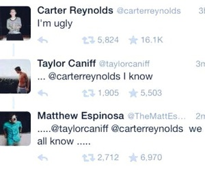 funny, taylor caniff, and carter reynolds image