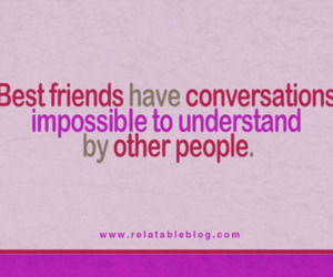 best friends and quote image