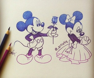 drawing, disney, and mickey image
