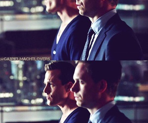 gabriel macht, patrick j adams, and mike ross image
