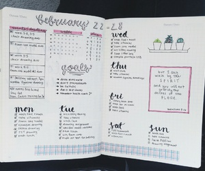 school, notebook, and bullet journal image