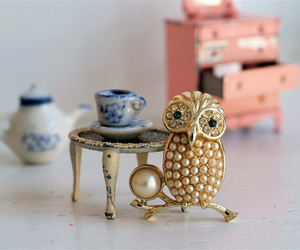 brooch, owl, and pretty image