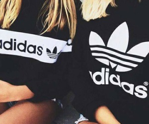 adidas, girl, and blonde image
