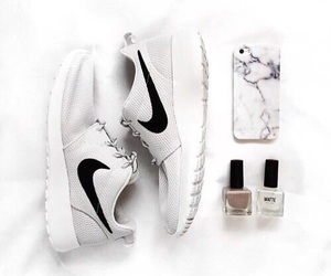 nike, white, and fashion image