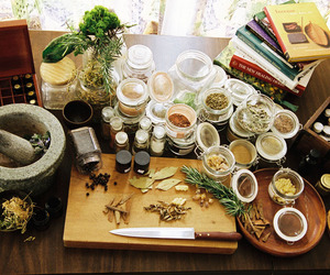 herbs, witchcraft, and witch image