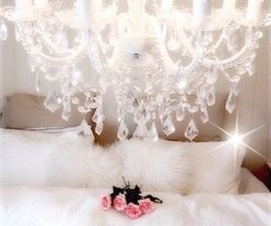 chandelier, soft, and white image