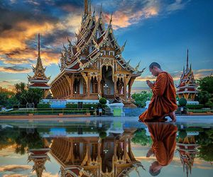 monk, thailand, and photography image