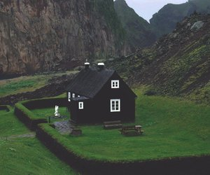 house, nature, and black image