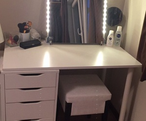 bedroom, ikea, and make up image