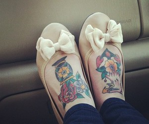 cute, shoes, and tatto image