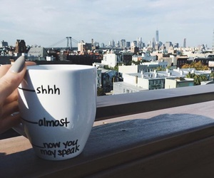 coffee, morning, and silence image