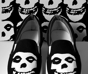 misfits, shoes, and black and white image
