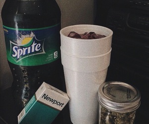 sprite, weed, and codeine image