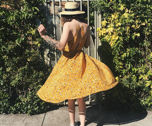 dress, yellow, and acacia brinley image
