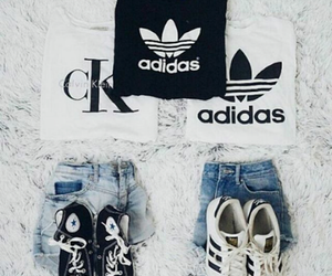 adidas, outfits, and best friends image