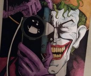joker, paint, and dc comics image