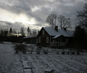 finland, landscape, and house image