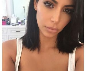 hair style, kim, and style image