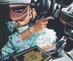 henna, hijab, and abaya image