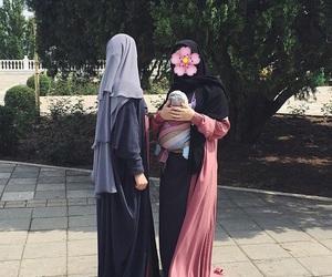 baby, hijab, and islam image