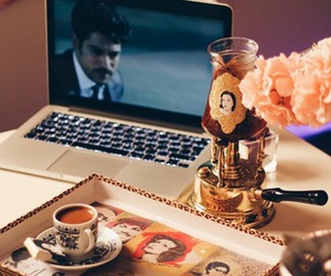 arab, coffee, and hijab image