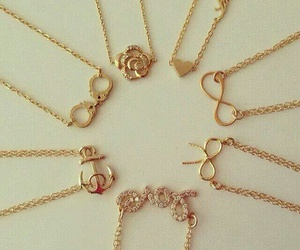 accessories, necklace, and girly image