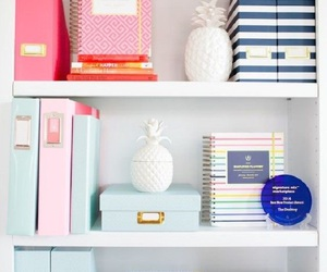 shelves, planners, and binders image