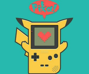 pikachu, pokemon, and gameboy image