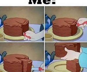 cake, me, and funny image