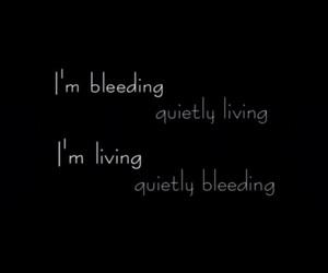 bleeding, blood, and dark image