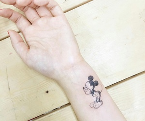 black, tattoo, and mickey mouse image